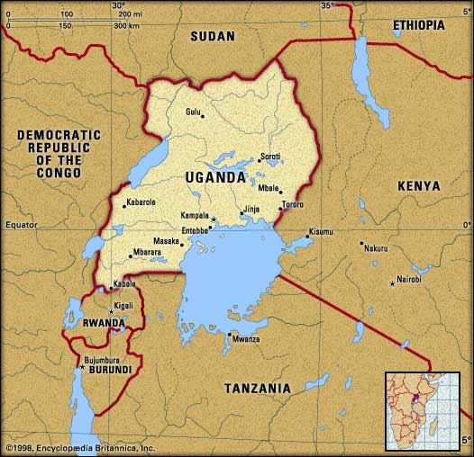 TechiesGamerz Arena Map Of Uganda Showing Regions